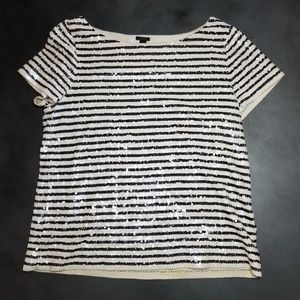 J. Crew sequin stripe top
